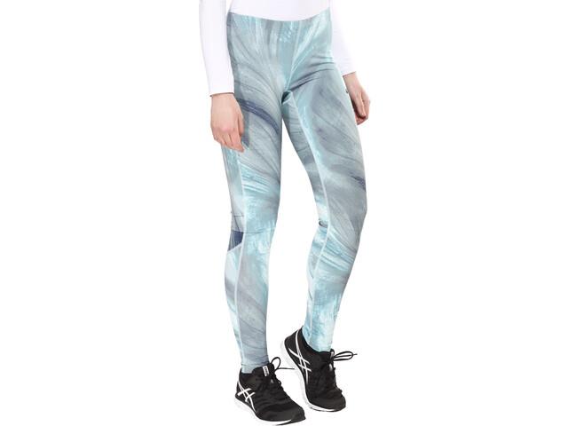 asics Graphic Pantaloni Donna, grigio/turchese